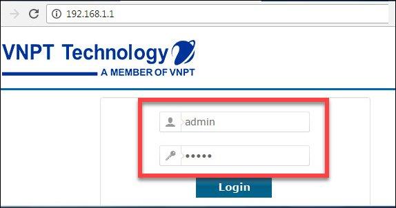 Để đăng nhập vào modem VNPT cần vào website hệ thống và thực hiện các bước