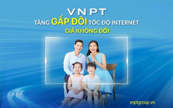 Gói cáp quang VNPT tăng gấp đôi tốc độ giá không đổi