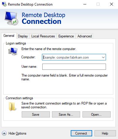 Màn hình xuất hiện remote connection để truy cập vào máy tính khác